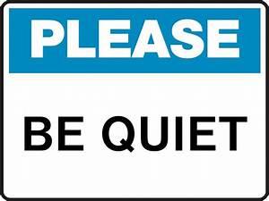 Be Quiet Sign - ClipArt Best