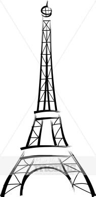 eiffel tower clipart french food clipart