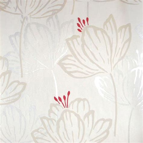 papier peint et blanc papier peint vinyle expans 233 sur intiss 233 quot pivoine quot as creation coloris blanc pistil et