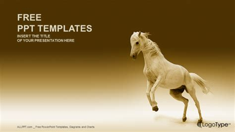 nice horse nature powerpoint templates