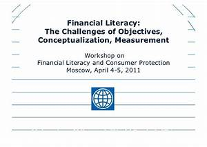 Financial Literacy: The Challenges of Objectives ...
