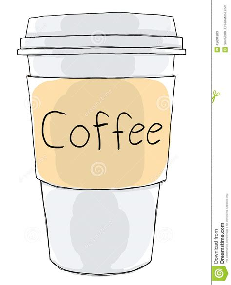 Coffee cup take away stock illustration. Image of design   42694303
