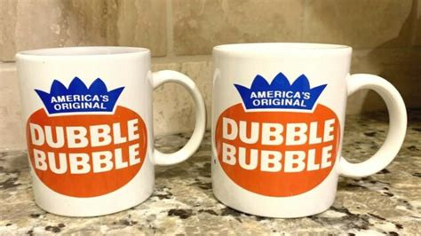 Chewing gum is a soft, cohesive substance designed in order to be chewed without being swallowed. (2) Double Bubble Chewing Gum 12 oz Coffee Cup Mug White FREE Shipping   eBay
