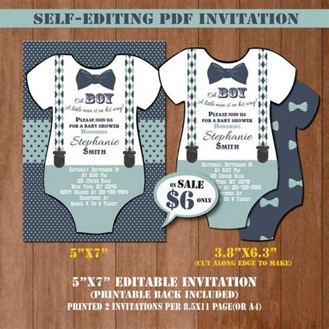 man baby shower invitation  editing mustache baby