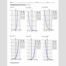 Graphing Exponential Functions Algebra Worksheet By Pecktabo Math