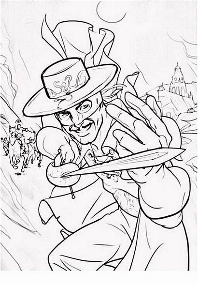 Zorro Coloring Pages Getdrawings