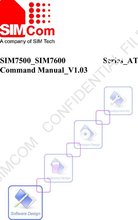 commands set sim sim series command manual