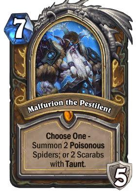 malfurion  pestilent hearthstone wiki