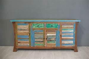 Maison Du Monde Bahut : bahut color en vieux teck ~ Teatrodelosmanantiales.com Idées de Décoration