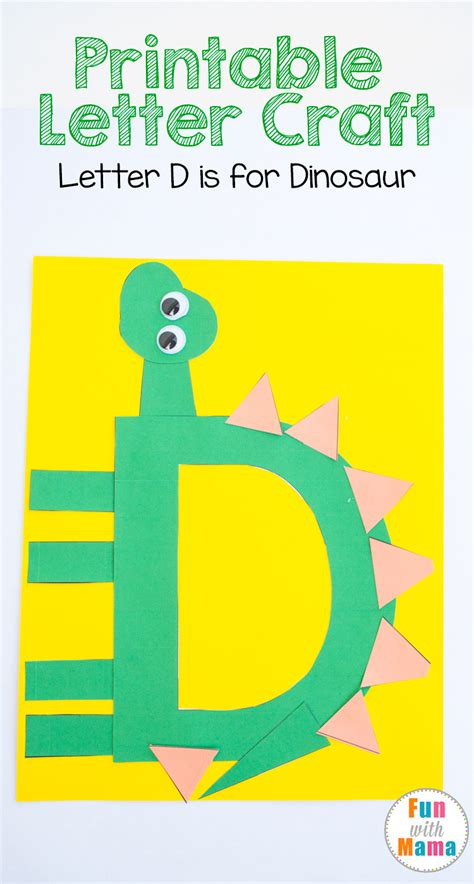 printable letter d crafts d is for dinosaur with 862 | letter d dinosaur 1
