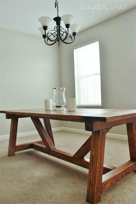 holy cannoli  built  farmhouse dining room table