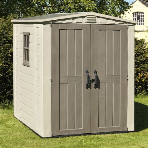 6X6 Factor Apex Plastic Shed   Departments   DIY at B&Q