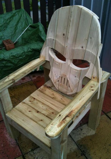 darth vader patio chair rustic chair woodworking
