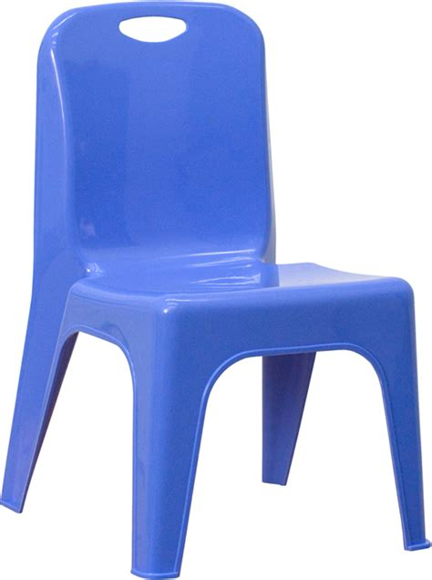 plastic stackable preschool chair 11 inch seat height 812 | blue s preschool chair