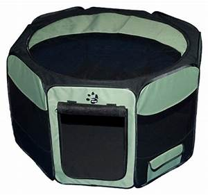 New travel lite soft sided dog cat pen pet gear crate for Travel dog pen