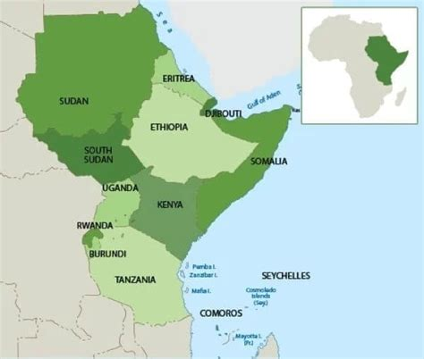 list  east african countries   capitals