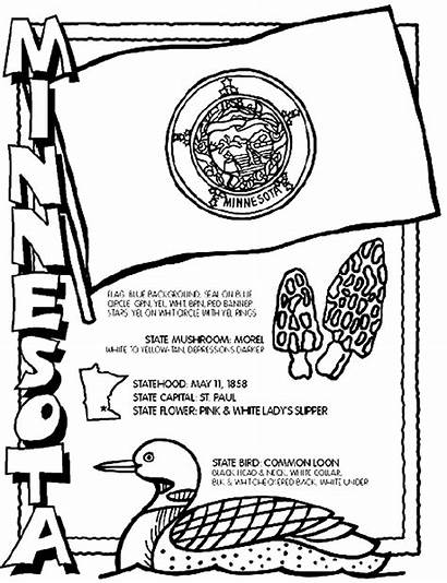 Minnesota Coloring Pages Crayola Sheets State Symbols