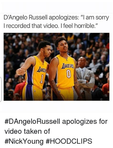 d angelo russell apologizes l am sorry i recorded that video i feel horrible dangelorussell