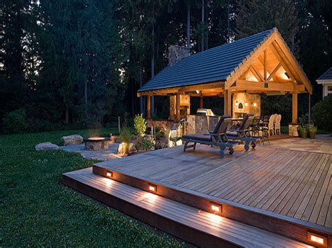 Backyard Patios by Outdoor Fireplace With Pizza Oven Low Patio Voltage Deck