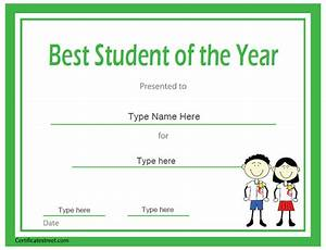 Certificate street free award certificate templates no for Student of the year certificate template