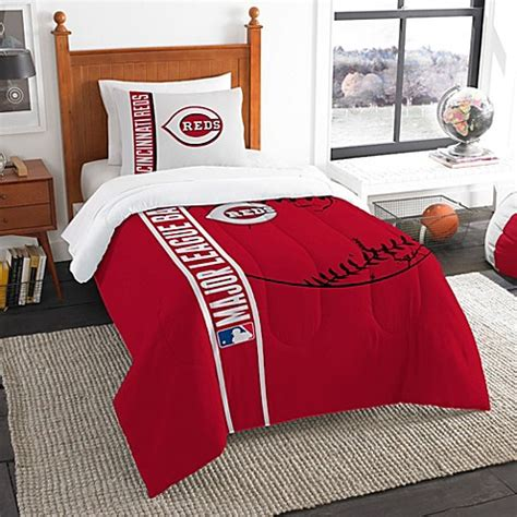 buy mlb cincinnati reds embroidered comforter set from bed