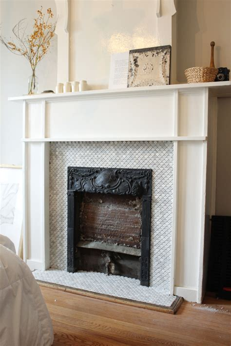 fireplace tile before and after the marion house book