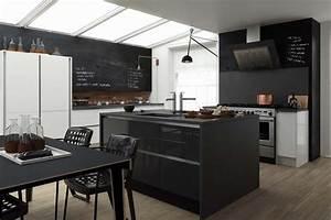 le tableau noir une idee de deco cuisine creative et With deco mur cuisine moderne