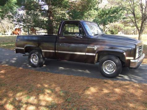 chevy 1984 truck custom deluxe short bed chevrolet