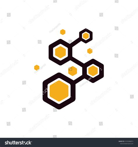 honey comb logo logos honeycomb stock vector