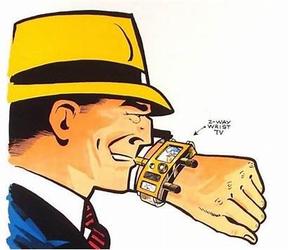 Tracy Dick Cartoon Phones Wrist Tv Apple