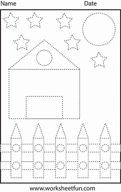 Tracing Shapes Worksheets Shape Circle Rectangle Triangle