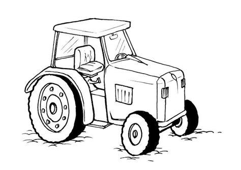 Afbeelding Tractor Kleurplaat by Kleurplaat Traktor Afb 10379