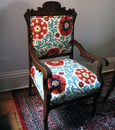 Furniture Upholstery Fabric by Antique Eastlake Oak Chair Change The Fabric Colours To