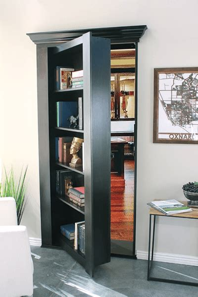 Bookcase Closet Doors by Bookcases Secret Mirrors High Tech Doors