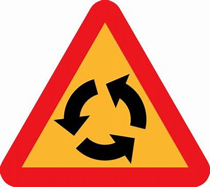 Clip Roundabout Sign Vector 4vector