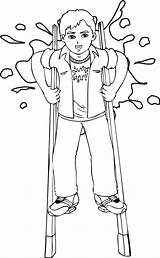 Stilts Coloring Pages Template sketch template
