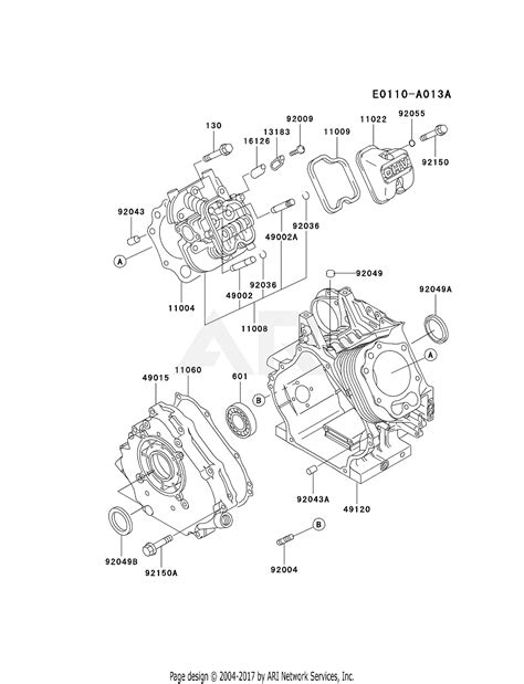 4 Engine Diagram by Kawasaki Fe350d Bs12 4 Stroke Engine Fe350d Parts Diagram