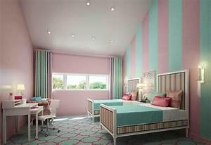 20 idees de decoration de chambre bleu turquoise for Chambre turquoise et rose