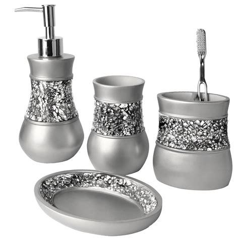 creative scents brushed nickel  piece bathroom accessory