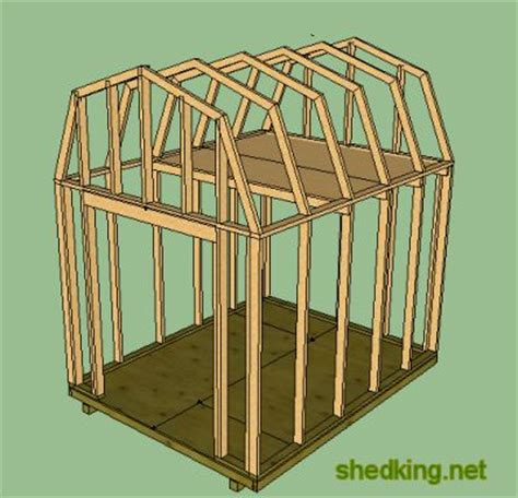 shed loft building illustrations and framing for a shed loft