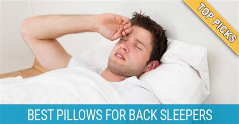 best pillow for back top 3 best pillows for back sleepers backpained