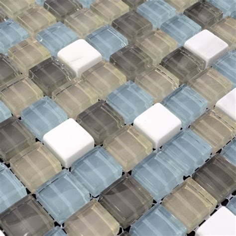 glass mosaic tilessmoky mountain square tiles with