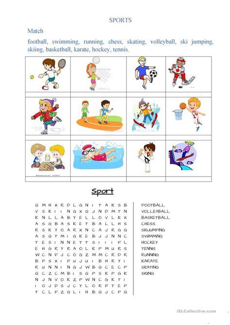 sports worksheet  esl printable worksheets