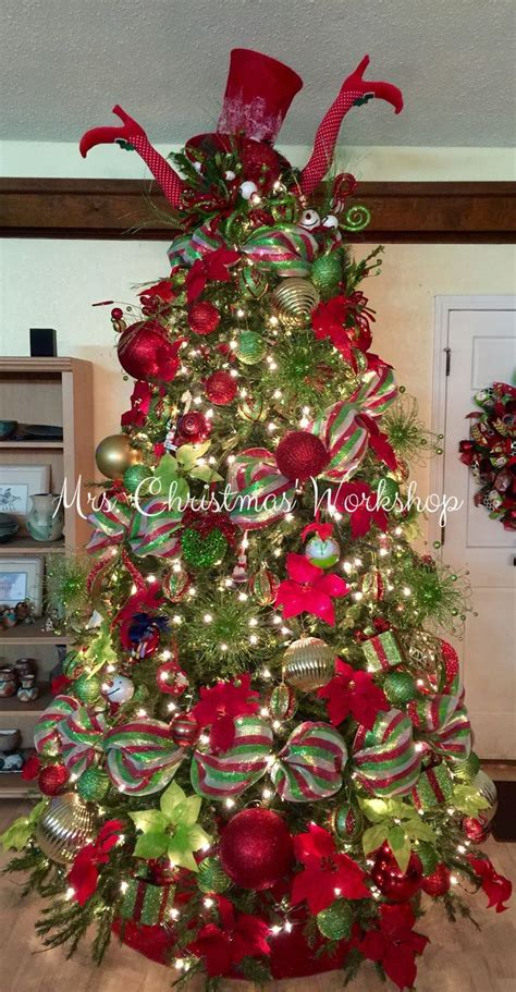 christmas tree red  lime christmas decorating tree