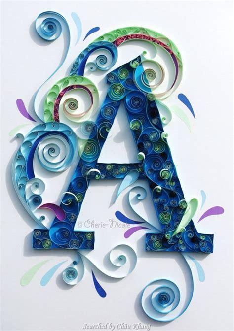 images  quilling monogram  letter