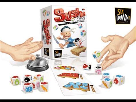 jeu de cuisine sushi sushi dice le jeu de dés frénétique