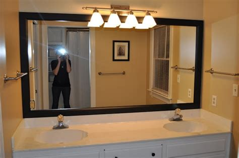 Stick On Frames For Bathroom Mirrors by Frame A Bathroom Mirror With Mirrormate Decorating Ideas
