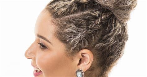penteado de festa  cabelos cacheados siga  tutorial