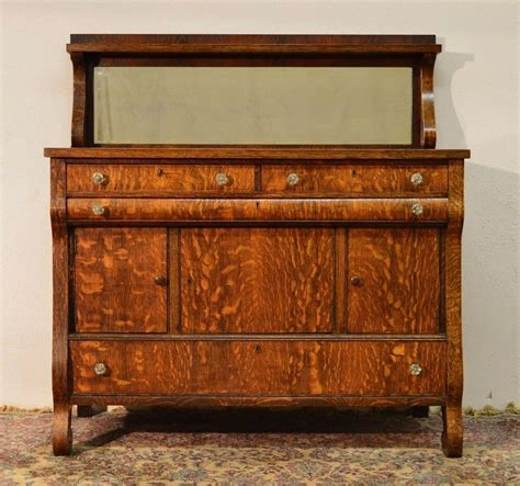 Vintage Buffets Sideboards by Antique Tiger Quartersawn Oak Empire Sideboard Server