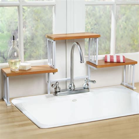 over the sink shelf kitchen 2 tier over the sink shelf kitchen faucet space saver